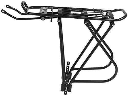 Portapacchi, Portapacchi per Mountain Bike in Lega di Alluminio per 25 kg, Resistente Portapacchi per Bicicletta con Sedile Posteriore per Mountain Bike