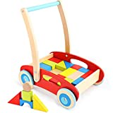 Wooden Baby Walker for 1 Year Old and up, Wooden Push Toy for 12...