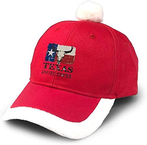 wwoman Gorra de Béisbol Santa con Gorros de Navidad Toro de Texas USA Rojo Rojo