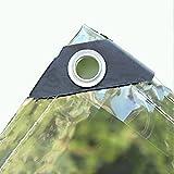 CHENYQ Lona De Protección con Ojales 4x4m, Lona Transparente Resistente PVC, Lona Transparente para Jardín Impermeable Anti Congelación Película A Prueba De Lluvia
