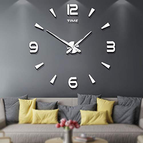 Mintime Large Wall Clock Battery Operated DIY Wall Clock for Modern Decorative Living Room/Office