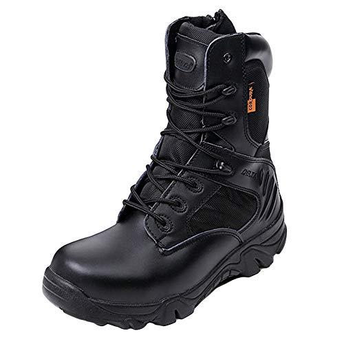 Hope Botas Militares tácticas de los Hombres Patrulla de Las Fuerzas Especiales de la Patrulla Negra Desierto del Ejército de Combate Deportes Al Aire Libre Senderismo Zapatos,Black-44