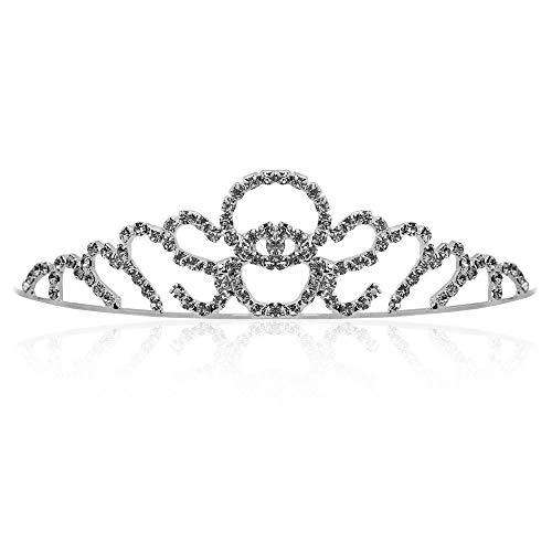 Tiara nupcial diadema para el pelo de lujo ideal para bodas princesa con cristales-12 modelos diferentes, Couleur:Modell 3