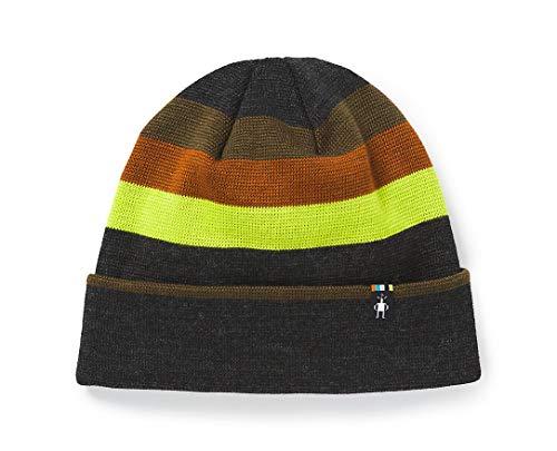 Smartwool Ski Retro Stripe Beanie Charcoal Heather 1 Fits Most Unisex