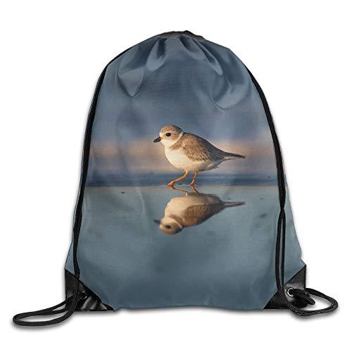 Borsa da palestra con coulisse, zaino sportivo, zaino da viaggio, Gregarious Wading Bird Plover Unisex Home Gym Sack Bag Travel Drawstring Backpack Bag