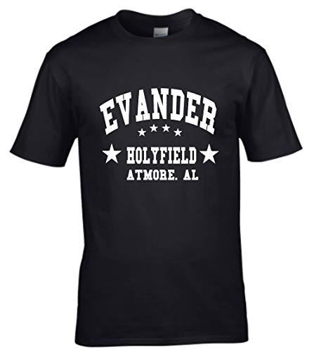 Fools Gold T-shirts Evander Holyfield Boxing Gym Training Mens Black T-Shirt (X-Large)