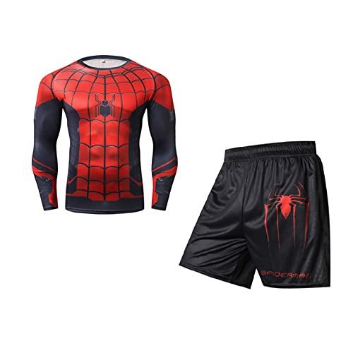 ZYOONG Juego de boxeo de compresión, pantalón de camiseta de kickboxing con estampado 3D para Muay Thai Fightwear Fitness Sport Set (color: 9, tamaño: asiático talla L)