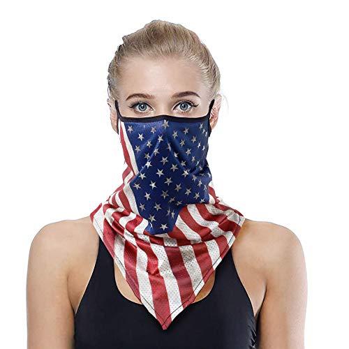 SG SUGU Face Mask Reusable Washable Cloth Bandanas Women Men Neck Gaiter Cover Ear Loops ES01-1