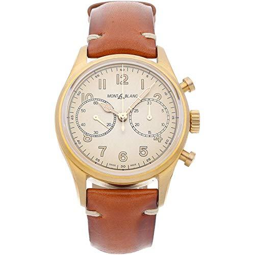 Montblanc 1858 Herren-Armbanduhr 42mm Armband Leder Cognac Automatik 118223