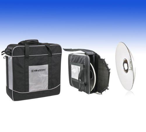 Elinchrom Softlite 44cm–Kit con riflettore, Nido d' ape e valigia Protec, Bianco