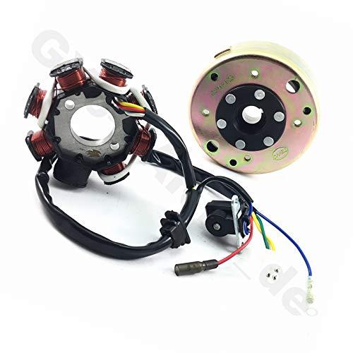 sourcing map Bobina de Encendido Set W Cap Moto Scooter Negro Set de Cables para GY6 125