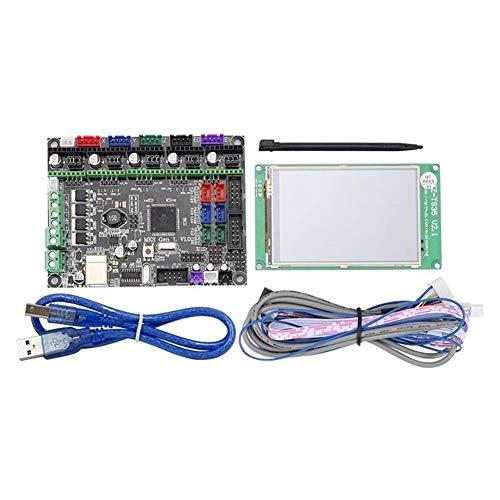 Nuokix Module Carte JZ-TS35 3,5 Pouces LCD Couleur Pleine Écran Tactile écran + MKS-GEN L Contrôleur intégré Mainboard V1.0 for la 3D Moniteur d'imprimante Balayage
