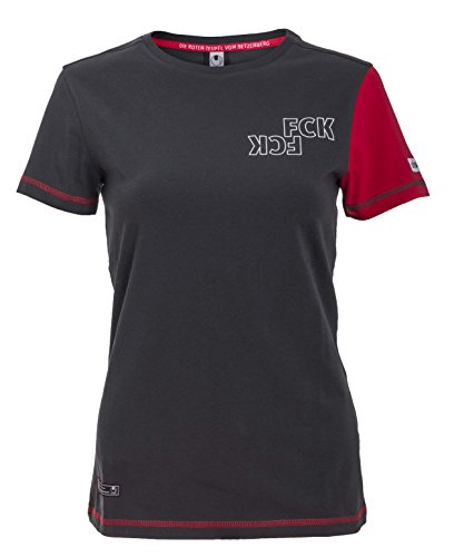 uhlsport Femme FCK T-Shirt 15/16, Femme, FCK T-Shirt 15/16, Anthra/Chilirot
