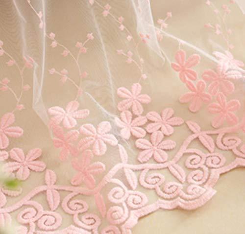 Koreaanse pastorale roze verduisterende prinses gordijnen voor meisjes kinderen woonkamer slaapkamer ramen behandeling pure tule romantische scherm, roze tule, W200xL260cm