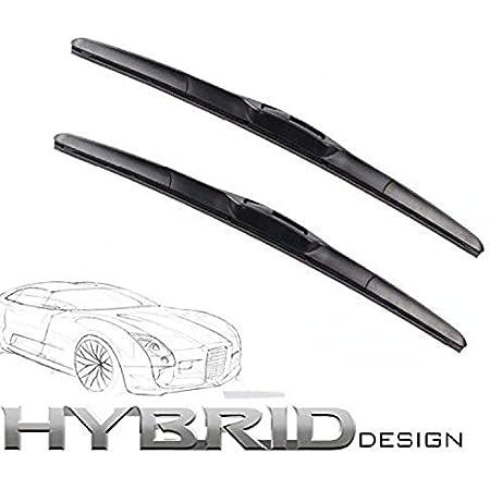 600mm 450mm Hybrid Flex 2x Front Scheibenwischer Premium Qualität Wischerblätter Scheibenwischerblätter Satz Starke Anpresskraft Auto