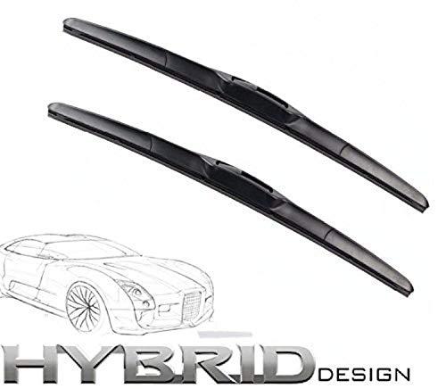 600mm 450mm HYBRID FLEX 2x Front Scheibenwischer Premium Qualität Wischerblätter Scheibenwischerblätter Satz STARKE ANPRESSKRAFT