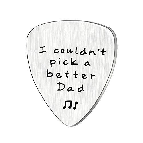 Vatertag Geschenk Mens Ich konnte nicht wählen Sie eine bessere Vati Gitarre Pick Custom Geschenk für Daddy Papa Edelstahl