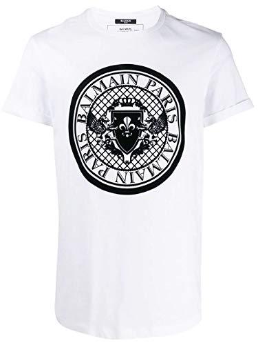 Balmain Luxury Fashion Herren TH11135I2160FA Weiss Baumwolle T-Shirt | Jahreszeit Permanent