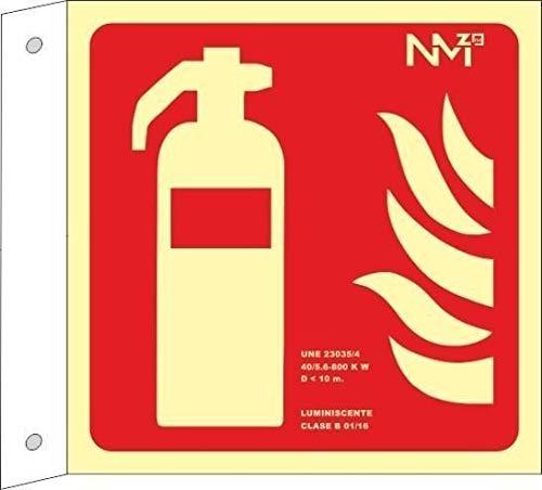 Normaluz A0B701 brandblusser klasse A, PVC, 1 mm, 21 x 21 cm, met CTE, RIPCI en geschikt voor de nieuwe wetgeving