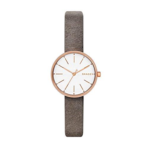 Skagen Damen Quarz Uhr mit Leder Armband SKW2644