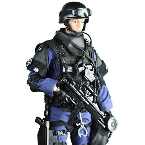 MOEGEN 12 SWAT Figura de Acción con Arma, 1/6 Figuras Soldados, Figuras Militares Conjuntos de Juegos - Agresor