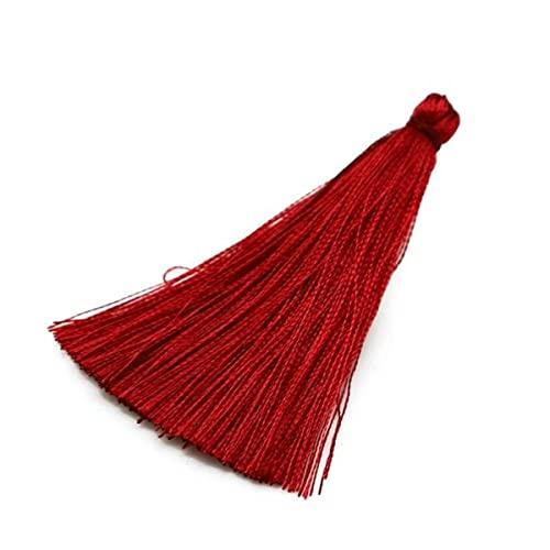 10 Uds borlas Flecos 65mm borlas de Seda Cortinas Colgantes para Coser Prendas de Vestir decoración del hogar Accesorios de Adorno-Burdeos