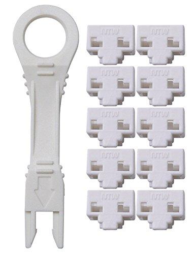 NTW NL-PBK10-WH Locking RJ45 Port/Dust Blocker with Color Coded Keys