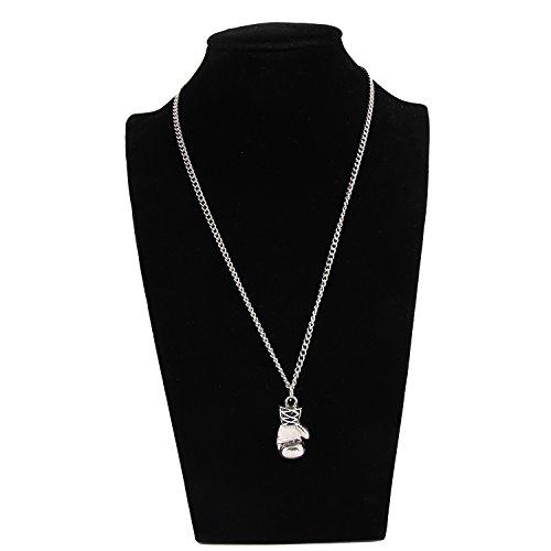 HUAN XUN Men's Boxhandschuh-Halskette mit Anhänger aus Metalllegierung, 17 5.08 cm Verlängerung Abbildung 3