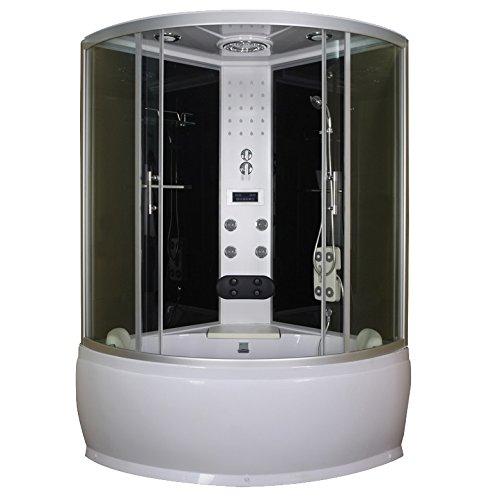 BagnoItalia Cabina de hidromasaje 130 x 130 multifunción con bañera I