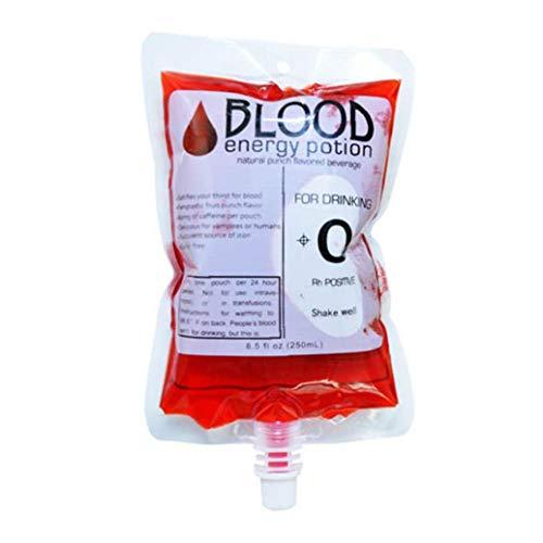Aisoway Halloween Getränkebehälter Cosplay Wasserflasche Bluttyp Beutel Props Beverage Beutel Blut