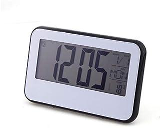 Renfengchui Elektronisk väckarklocka nattlampa kontor bordsklockor kalender LCD-display snooze modern design termometer in...