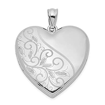 Scrolled Love Heart Family Locket Jewelry Gifts for Women
