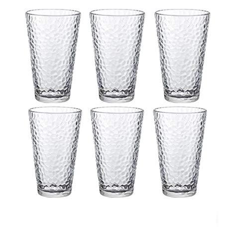 Copas de vino Copa de estar para el hogar de vidrio Taza de agua resistente al calor Taza de té de la leche de la taza de jugo de la taza de la cerveza (Color : D)