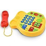 Telefonspielzeug,Puzzle Aufklärung Cartoon Electric Music Telefon,Spielzeug für die frühkindliche Bildung,Spielhaus Rollenspielzeug zum Erkennen von Farben,Geburtstagsgeschenk für Jungen & Mädchen