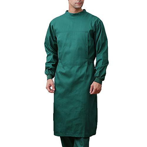 Medizinische Kleidung Medizinische Uniform Arbeitskleidung Langarm Krankenschwester Uniform Atmungsaktiver Anzug Krankenhaus-chirurgische Kleidung Overall für Zahnkliniken,C,S