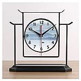 Relojes de Suelo Nuevo CHINO CHINO HIERD TABLA DE MESA RELOJ DE RELOJES DE LA CASA DE LIBERA DE LA DECORACIÓN Decoración de la mesa Reloj Retro Personalidad Reloj Reloj de silencio Relojes despertador