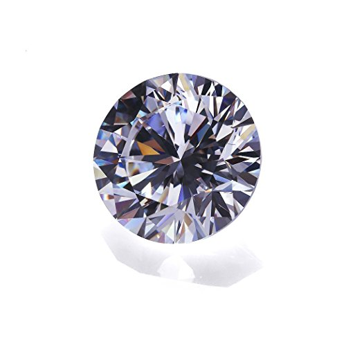 Alone Moon 500pcs 3.0mm Round Whtie Sparkling Loose Cubic Zirconia Resplendent Grade Hearts and Arrows Cut for Ring/Necklace/Earrings Inlay and DIY Hand-Made,Vacuum Packaging