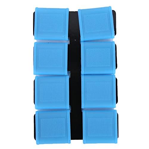 Kuuleyn Cubierta de Silicona para Dedos, Cubierta para Dedos de Golf, 8 Piezas de Silicona Antideslizante Elasticidad Golfista Swing Grip Juegos de Cubiertas para Bandas de Dedos de Golf(Azul)