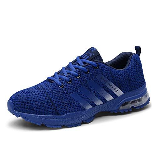 Zapatillas de Deporte Respirable para Correr Deportes Zapatos Running Hombre, Logobeing Calzado Casual de Camuflaje Calzado de Estudiante de Baja Ayuda Seguridad Deportivo Hombre (35,Azul #0)
