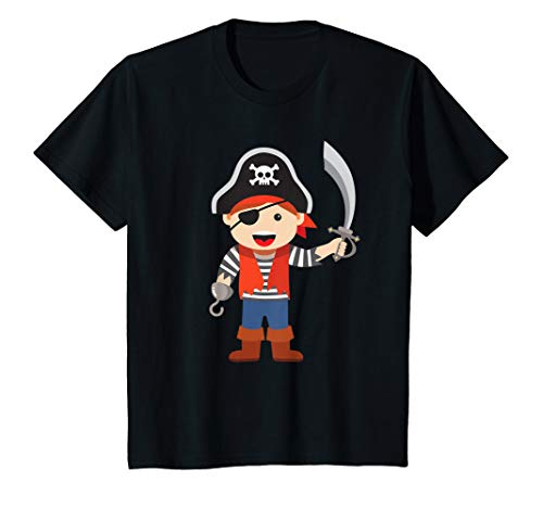Kinder Karneval, Halloween & Fasching - Jungen Piraten-Kostüm T-Shirt