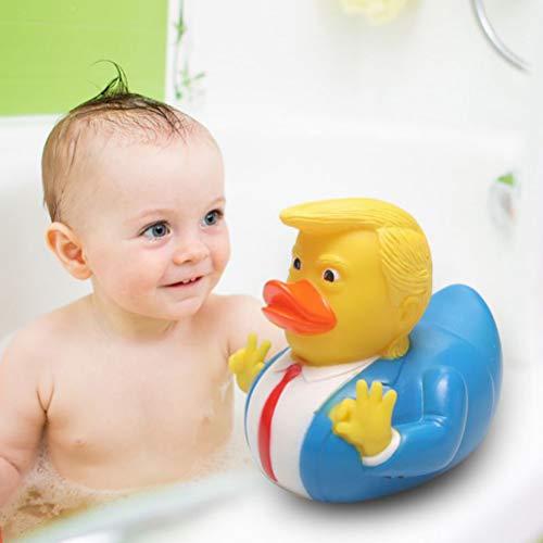 DUOCACL Juguetes de baño: Pato de Goma de PVC Donald Trump, Parodia de Dibujos Animados para Fiestas en la Piscina, llamados Patos de baño para bebés