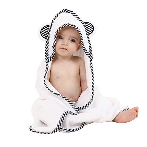 Bio Bambus Kapuzen Babyhandtuch - Weich, Badetücher mit Kapuze für Babys und Kleinkinder - Hypoallergen, Großes Baby Handtuch Perfektes Baby Geschenk für Jungen und Mädchen