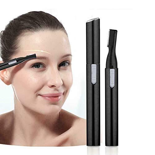 Tondeuse à sourcils - Correcteur pour le corps et le visage - Tondeuse de précision pour enlever les poils des sourcils, du nez, des oreilles et du visage - Noir