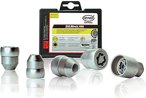 Amica Heyner Germany Locking Wheel Nuts Set 4 Removal Key Car Security...