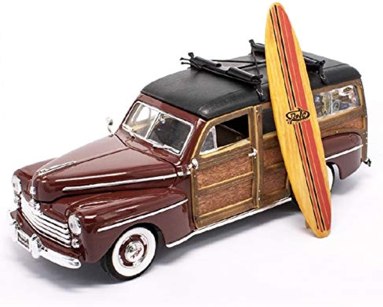 Dal nero modellolino Auto 1948 Ford Woody Bordeaux Scala 1 18 95294