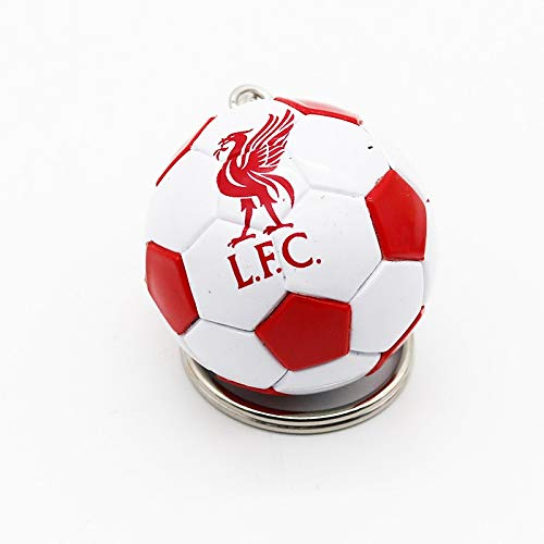 XMCF Key Ring 3D Sports Football Key Chains Souvenirs PU Leather Keyring for Men Soccer Fans Keychain Pendant Boyfriend Gifts (Color : LFC CB12)