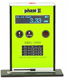 Phase II SRG-2000 Portable Surface Roughness Tester Profilometer, 0.05-10mm Measuring Range, 4.9