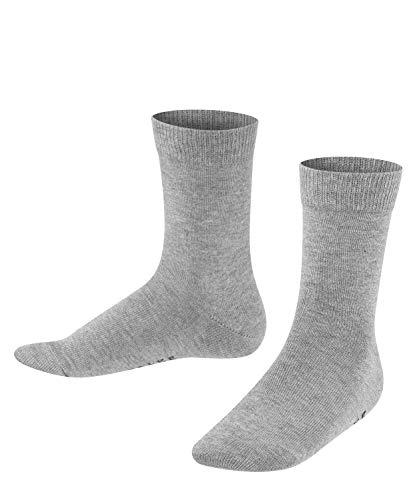 FALKE Kinder Socken Family - 94% Baumwolle, 1 Paar, Grau (Light Grey 3400), Größe: 31-34