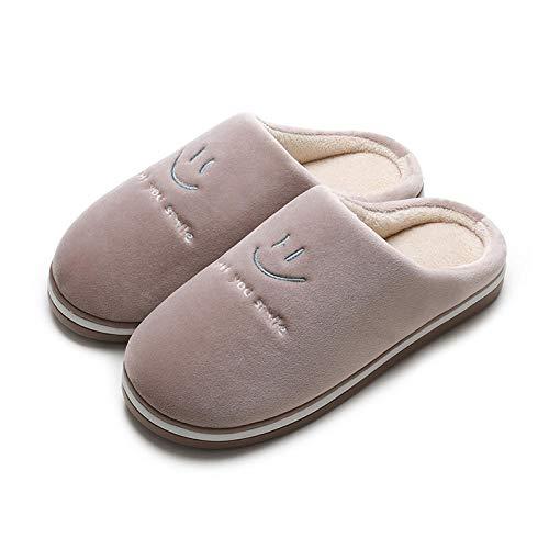 B/H Invierno CáLido Felpa Cómodo Zapatos,Zapatillas de Invierno Grandes y cálidas de algodón, Zapatillas de Plataforma para el hogar-R_39-40,Nvierno Hombre Pantuflas