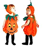 Inception Pro Infinite Talla S - 2 - 3 años - Disfraz - Carnaval - Halloween - Calabaza - Vegetal - Color naranja - Niño